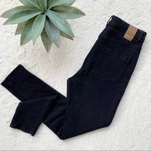 Zara high rise skinny jeans black 8